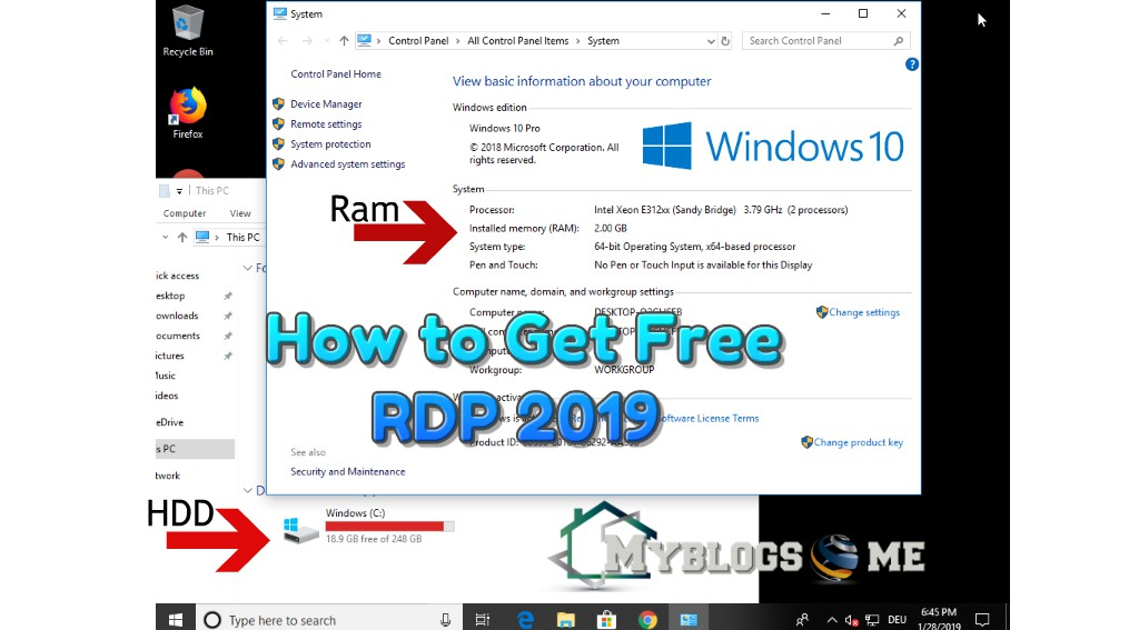 How to get free Windows Vps with 2 GB Ram for 7 days trial