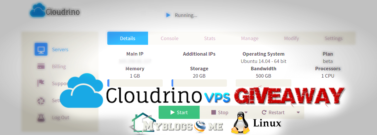 We are giving away Cloudrino Vps for Lifetime 2018