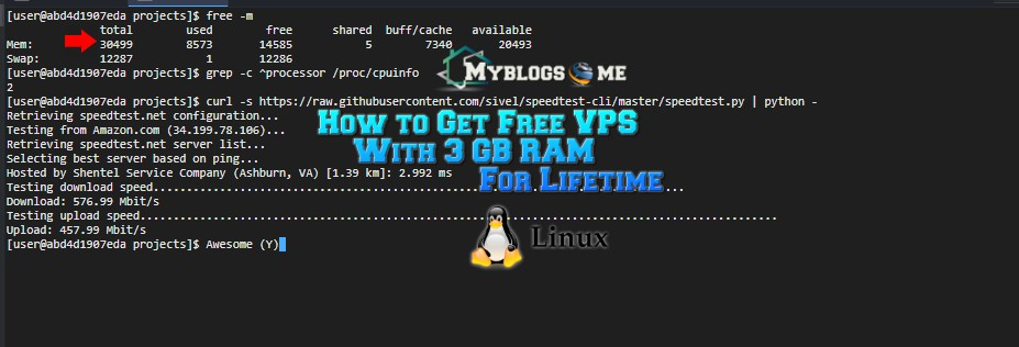 How to free Vps with 3 Gb ram and 2 cores for Lifetime