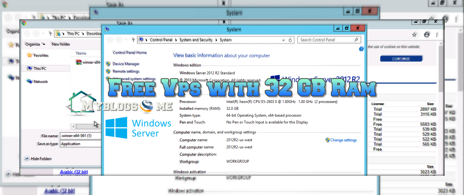 How to Get free 32 GB Ram VPS with 200 GB Disk Space