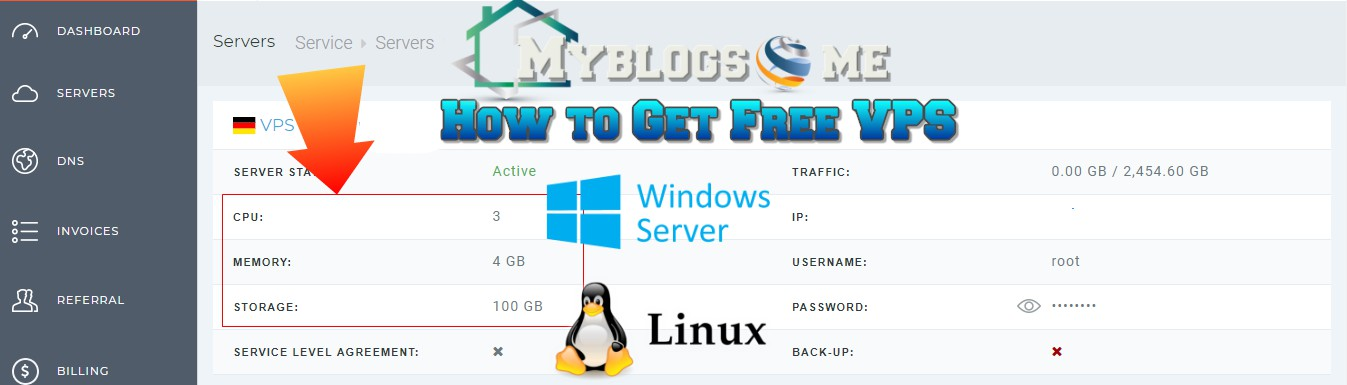 How to get free 4 GB Ram and 3 Core Windows and Linux Vps without
